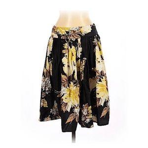 EUC Ann Taylor LOFT Floral Springtime Cotton Skirt